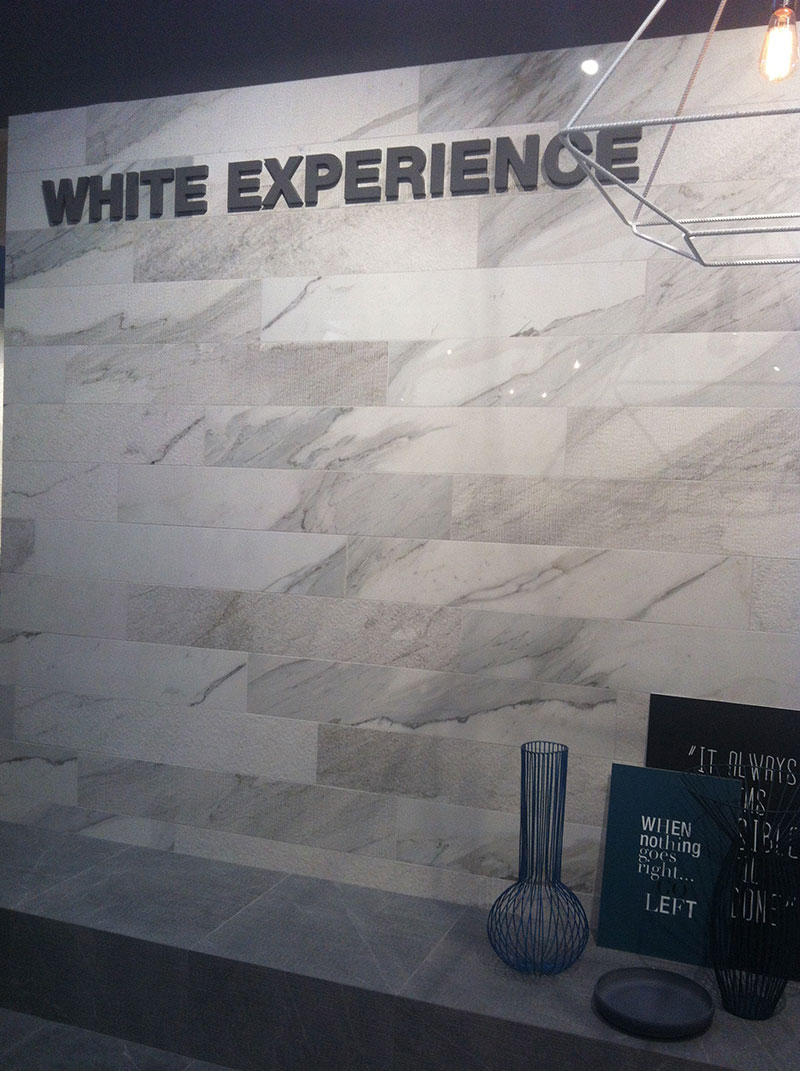 Cersaie Fair Italy 2014 -  White Experience - 6 textures 3 colors