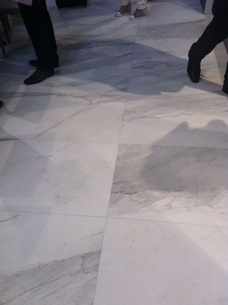 Cersaie Fair Italy 2014 White Experience - Rullatto Textured Floor