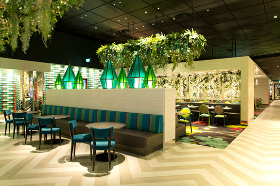 Margo's Resteraunt - Crown Casino - Cactus White and Cactus Beige courtesy of Lombard & Jack Interior Design