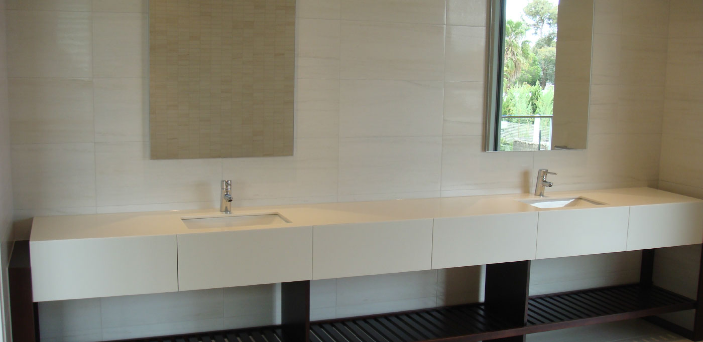 Winter Bianco wall and floor tile - DDB Design and Construction