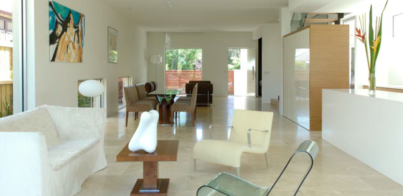Classico Travertine filled and honed courtesy of Dorothy Deguara Interior Design in collaboration with David Luck Architects